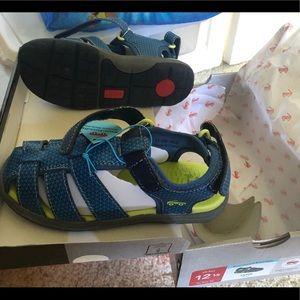 Kids see kai run Cyrus sandal in navy size 12 1/2
